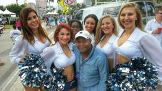 Deshon and the Cheerleaders at the Supercar Supershow