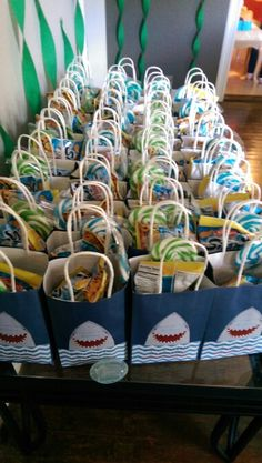 Party bags (shark theme)