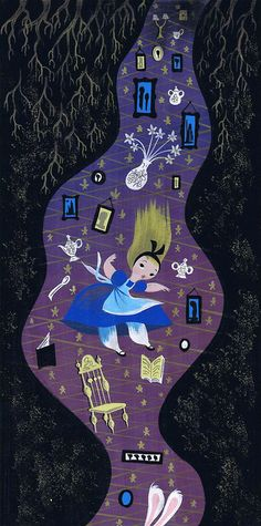 """Concept Art for Walt Disney's """"Alice in Wonderland"""" by Mary Blair #alice #aliceinwonderland #conceptart #illustration #maryblair - Carefully selected by @Gorgonia www.gorgonia.it"""