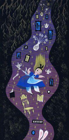 Walt Disney - Alice in Wonderland - Mary Blair - Concept Art Mary Blair, Walt Disney, Disney Love, Le Terrier, Inspiration Artistique, Disney Artists, Disney Concept Art, Disney Kunst, Adventures In Wonderland