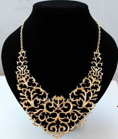 fashion hollow short bib necklace ,shop fashion jewelry at Costwe.com