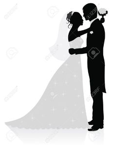 Bride And Groom Silhouette Black And White Bride and groom silhouette Wedding Icon, Wedding Art, Wedding Themes, Bride And Groom Silhouette, Silhouette Clip Art, Free Silhouette, Christmas Stencils, Gold Wedding Invitations, Black And White