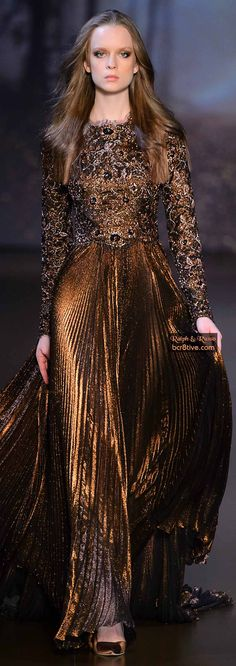 Brown: #Brown gown, Ralph & Russo Couture Fall 2015-16.