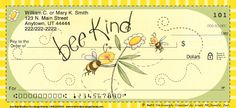These cheery bumblebee check designs, featuring the artwork of acclaimed artist Beth Yarbrough, will bring a smile to the face of all who see them.