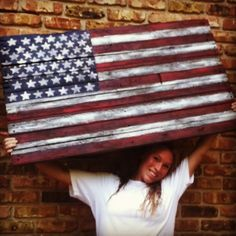DIY American flag from old pallet