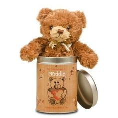 Valentines Day Love Heart Teddy in a tin #Valentines £19.99