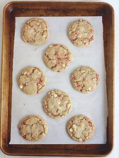 White Chocolate Peppermint Cookies by Completely Delicious