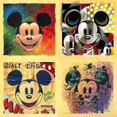 Mickey Mouse in Disney Fine Art by Toby Bluth, Allyson Vought, Trevor Carlton, Thomas Kinkade and others. Mickey Love, Mickey Mouse Art, Vintage Mickey Mouse, Mickey Mouse And Friends, Mickey Minnie Mouse, Walt Disney, Disney Fun, Disney Magic, Punk Disney