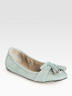 Paulet Leather Tassel Ballet Flat