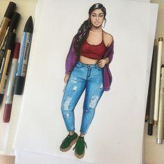 Jordyn ✨ (Please tag her ❤️) Black Love Art, Black Girl Art, Black Is Beautiful, Black Girls, Art Girl, Black Women, Tumblr Drawings, Black Art Pictures, Pretty Drawings