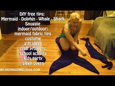 How to make a mermaid tail: DIY tutorial free tips cheap costume whale dolphin shark mermaid snuggie