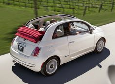 This is the Fiat 500 with the red convertible top. I'm in love with this car.