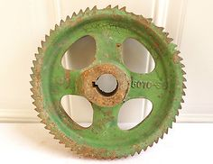Antique Vintage Metal Industrial Gear Sprocket Cog Machine Age Steampunk Art!