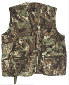 Mil-Tec Hunting and Fisherman's Vest Hunting Camo - Military Outdoor Camping Army Shop, Fishing Vest, Hunting Camo, Camo Outfits, Hiking Gear, Outdoor Camping, Military Jacket, How To Wear, Jackets