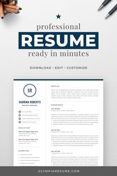 Professional 1 Page Resume Template One Page Resume Template, Modern Resume Template, Creative Resume Templates, Creative Cv, Free Cover Letter, Cover Letter For Resume, Cover Letter Template, Cover Letters, Cv Design