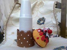 Cupcake Portabicchiere e portamemo in goma eva