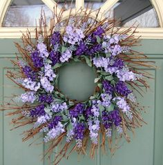 Spring WreathLavender by countryprim on Etsy, $34.00