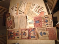 assortment of Richter Anker blocks and leaflets