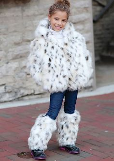 Faux snow leopard