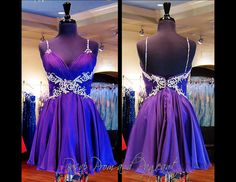 100MD0645900325 PURPLE HOMECOMING DRESS Another Classic Style that's to die for! Sparkling Embellishments adorn the straps, sweetheart bust and back. Buy it at Rsvp Prom and Pageant in Lawrenceville, GA or online at http://rsvppromandpageant.net/collections/short-dresses/products/100md0645900325-purple-homecoming-dress