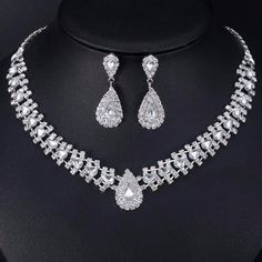 Mecresh Crystal Bridal Jewelry Sets Silver Color Geometric African 2017 Rhinestone Necklace For Wedding Tl011 Pinterest