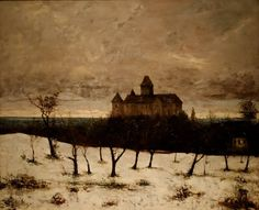 Gustave Courbet, The Castle of Blonay, 1875.