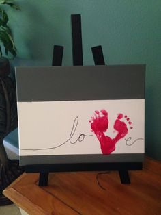 love picture with footprints. very cute!