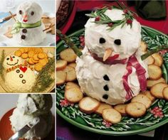 Snowman Cheese Ball Fun Addition To Your Table | The WHOot