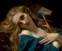 Hugues Merle, MARIE-MADELEINE DANS LA GROTTE. Romantisme, 1868. Huile sur toile.