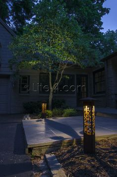Outdoor landscape lighting decorative steel bollard light lite post your weekly project photos here page 62 lawnsite lawn care landscaping business forum discuss news reviews mozeypictures Image collections