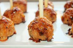 Creole Contessa: Goal Post Sausage Balls with Spicy Mango Glaze