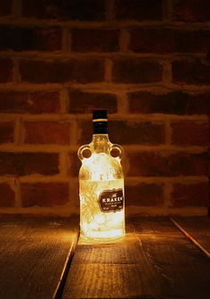Hey, I found this really awesome Etsy listing at https://www.etsy.com/listing/224809647/upcycled-kraken-bottle-lamp-solar