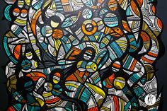 Johnny Clegg : exposition solo de Grems à la galerie Anyway, espace Oppidum en décembre 2015 à Paris.