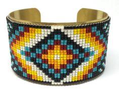 Étnica nativa brazalete pulseras de Māra símbolo por Shinkabeads