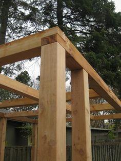 wooden pergola joints - Pesquisa Google - Sequin Gardens