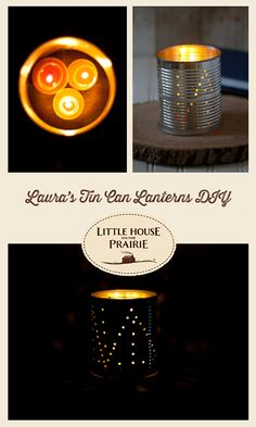 Add some glowing atmosphere to your garden and yard with our DIY Tin Can Lanterns.