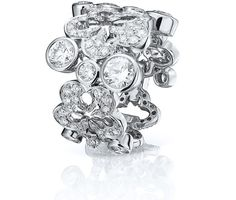 A glistening, impressive ring from Boodles' Blossom collection. Set with approximately carat of round-brilliant cut diamonds In white gold Also available in rose gold Width: (approx Large Diamond Rings, Diamond Crown, Rose Gold Diamond Ring, Diamond Flower, Diamond Gemstone, White Gold Diamonds, Diamond Jewelry, Gold Rings, Gemstone Rings
