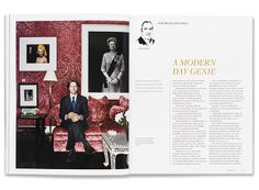 Profile of a collector in the magazine.