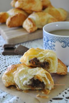 Croissants with chocolate