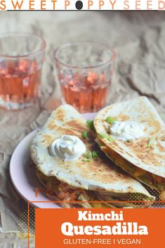Lower Excess Fat Rooster Recipes That Basically Prime Kimchi, Melted Cheesy, Creamy Avocado And Grilled Up Tortilla, The Ultimate Quesadilla Real Food Recipes, Vegetarian Recipes, Yummy Food, Healthy Recipes, Delicious Recipes, Fall Recipes, Lunch Recipes, Quesadillas, Burritos