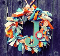 Wreath with baby initial