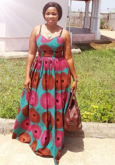 Beautiful Ankara dress #AnkaraCollection Ankara Maxi Dress, African Maxi Dresses, African Fashion Ankara, Latest African Fashion Dresses, African Print Fashion, Africa Fashion, African Attire, African Wear, African Clothes