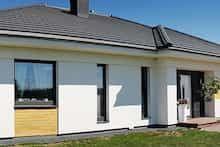 Dom w bodziszkach Modern House Design, Farmhouse, Windows, Outdoor Decor, Home Decor, Country Houses, Kitchen Modern, Home, Architecture
