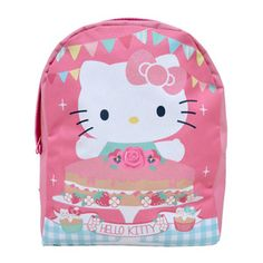 So she is starting school and she's a little nervous. Well she won't be if you give her this secret weapon, our Hello Kitty Tea Party Backpack. Since she'll have to leave her Hello Kitty toy at home, carrying a comforting picture of Hello Kitty on her backpack is the next best thing.   #hellokitty #retrostyler #hellokittystuff #hellokittymerchandise #hellokittycollectables