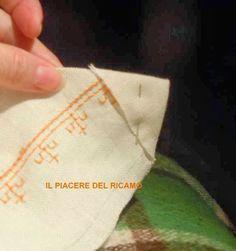 Il Piacere del ricamo: Punto Caterina De Medici come fare gli angoli