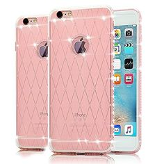 iPhone 6 Plus Case, iPhone 6S Plus Case, Bonice Ultra Clear Crystal Transparent Diamond Rhinestone TPU Silicone Gel Soft Thin Case Cover for iPhone 6 Plus/6S Plus 5.5 inch - Pink - Brought to you by Avarsha.com
