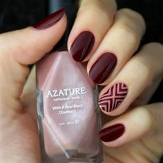 Mani+Monday:+Burgundy+and+Dark+Blush+Nail+Tutorial