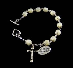 #Wedding Rosary Bracelet - Mother of Pearl: $59.95