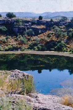 Montezuma Well (Yavapai: 'Hakthkyayva), a detached unit of Montezuma Castle National Monument is a natural limestone sinkhole near Rimrock, Arizona   ...photo by Geraldine Clark