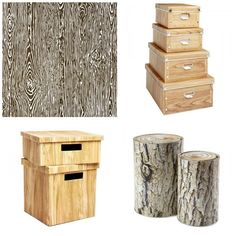 Woodgrain Paper, Boxes & Tins
